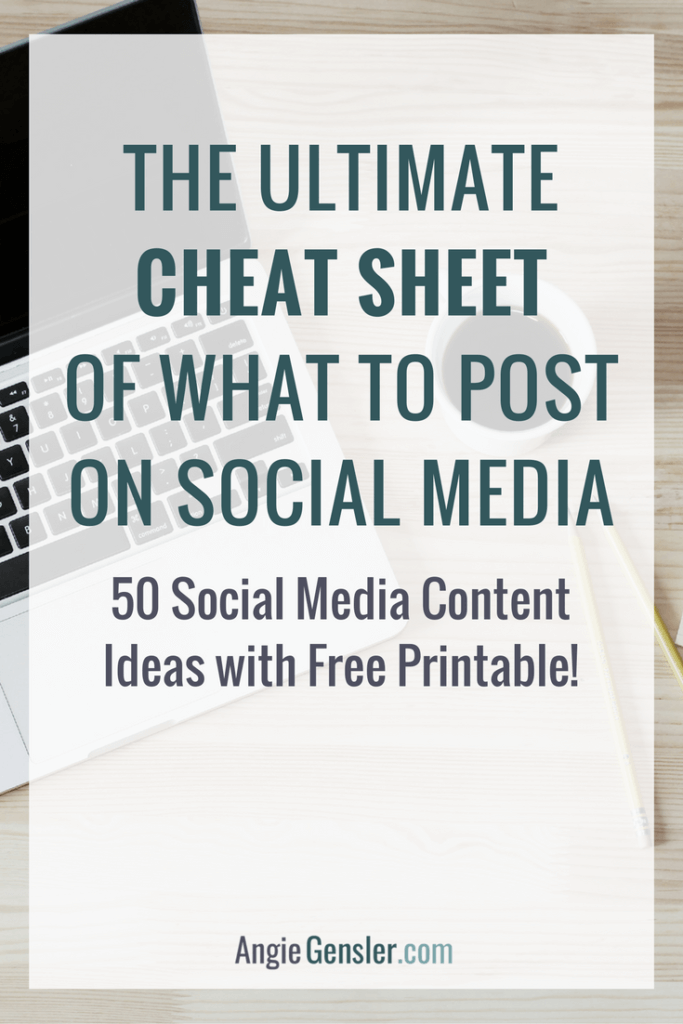 50 Social Media Content Ideas with free Printable