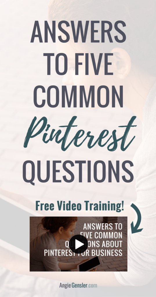 Answers to five common Pinterest questions_Video Training