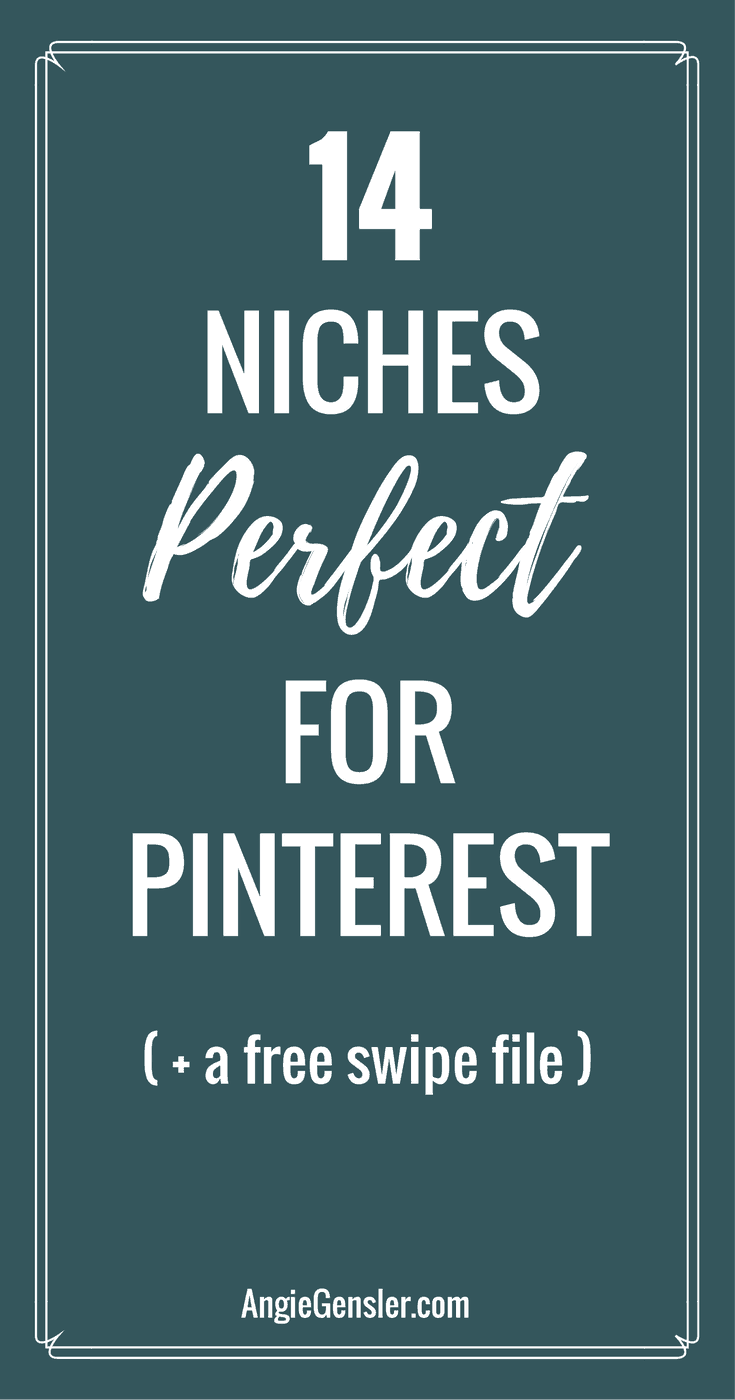 14 niches perfect for pinterest