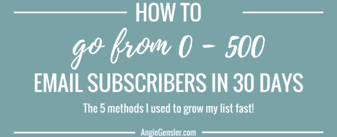 How I went from 0 - 500 email subscribers in 30 days_FB