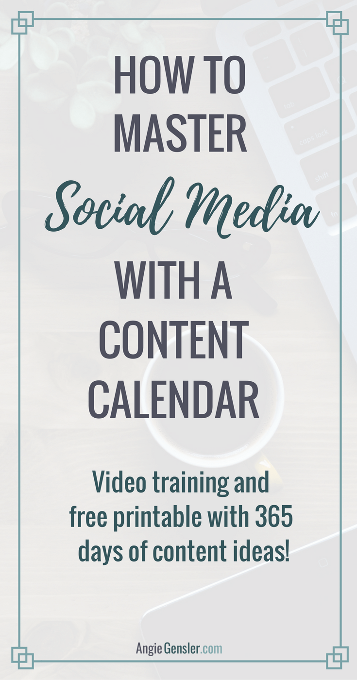 How to Master Social media with a content calendar_Pinterest
