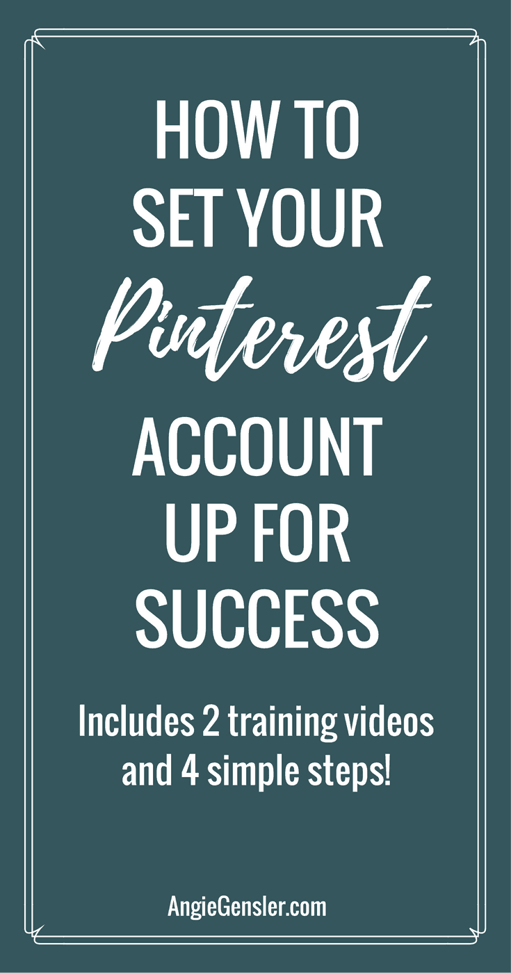 How to set your pinterest account up for success
