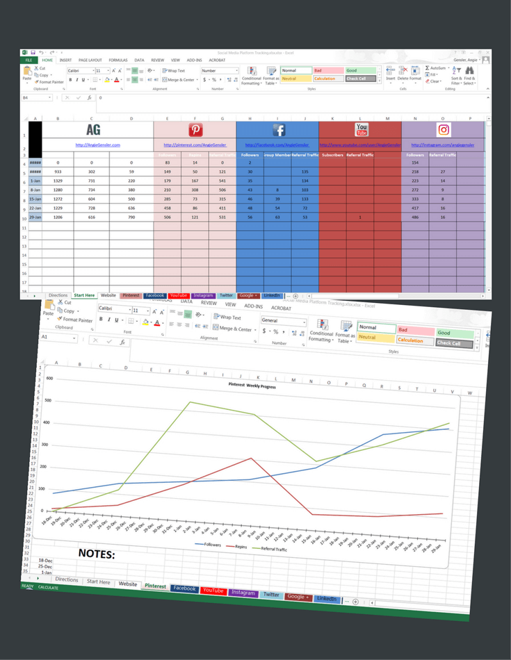 GROWTH TRACKING SPREADSHEET