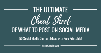 Ultimate Cheat Sheet of what to post on social media_FB
