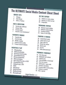 Ultimate Social Media Content Cheat Sheet