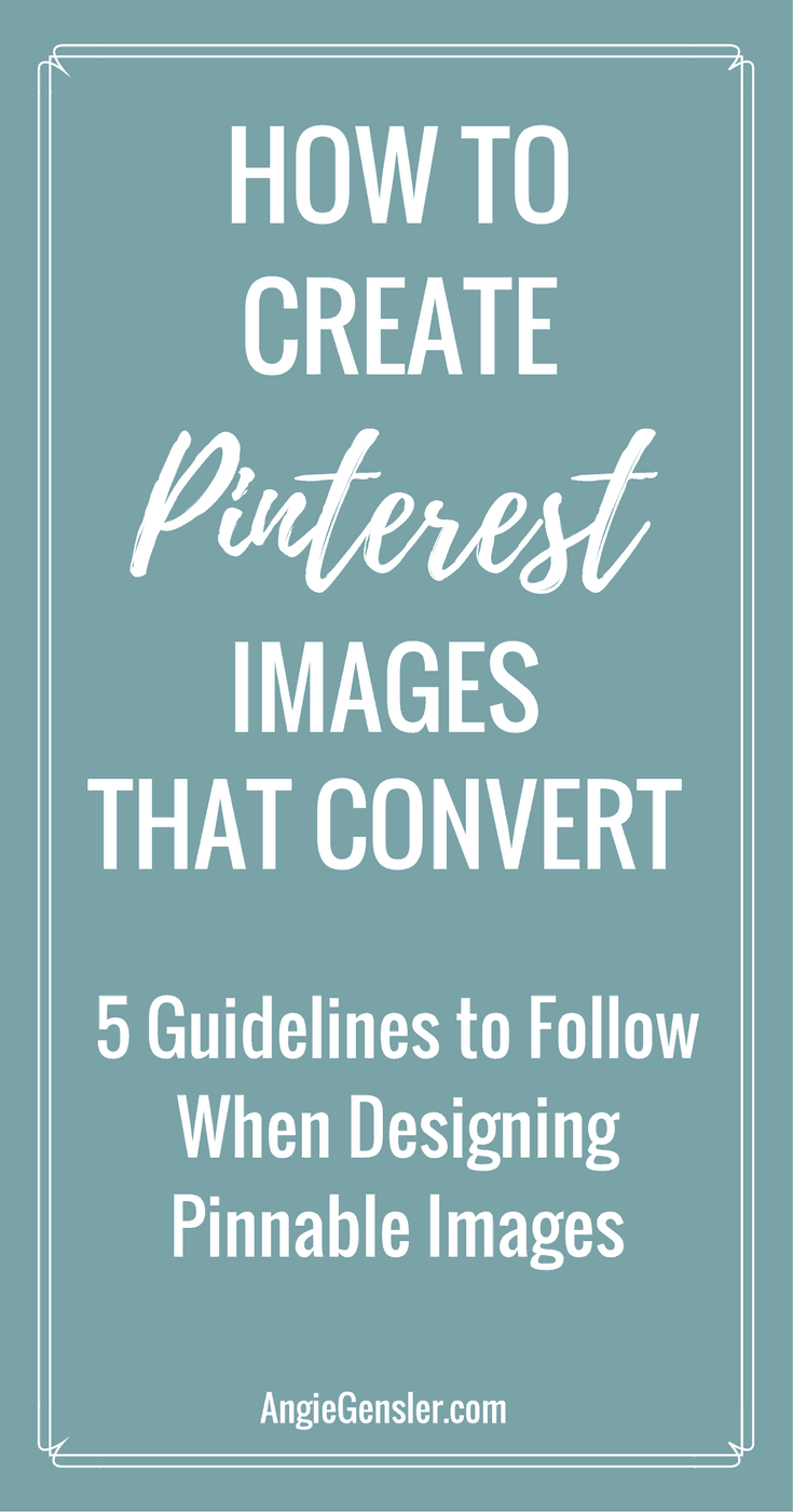 Designing Pinterest images that convert