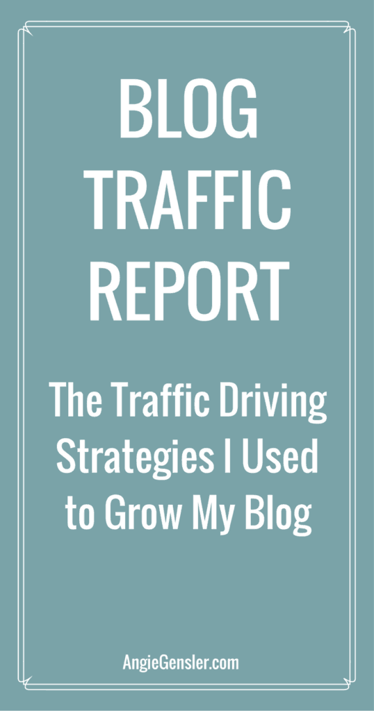 Blog Traffic report - the Traffic driving strategies i used to grow my blog