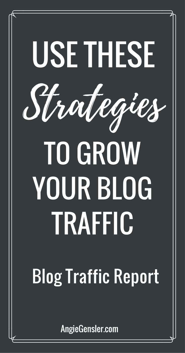 I'm sharing my two best traffic driving strategies in this blog traffic report. I also created two short tutorial videos walking you through my best Pinterest tips.