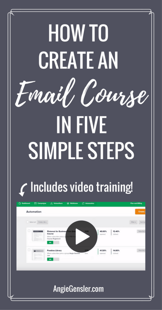 How to create an email course in 5 simple steps. Includes free video training