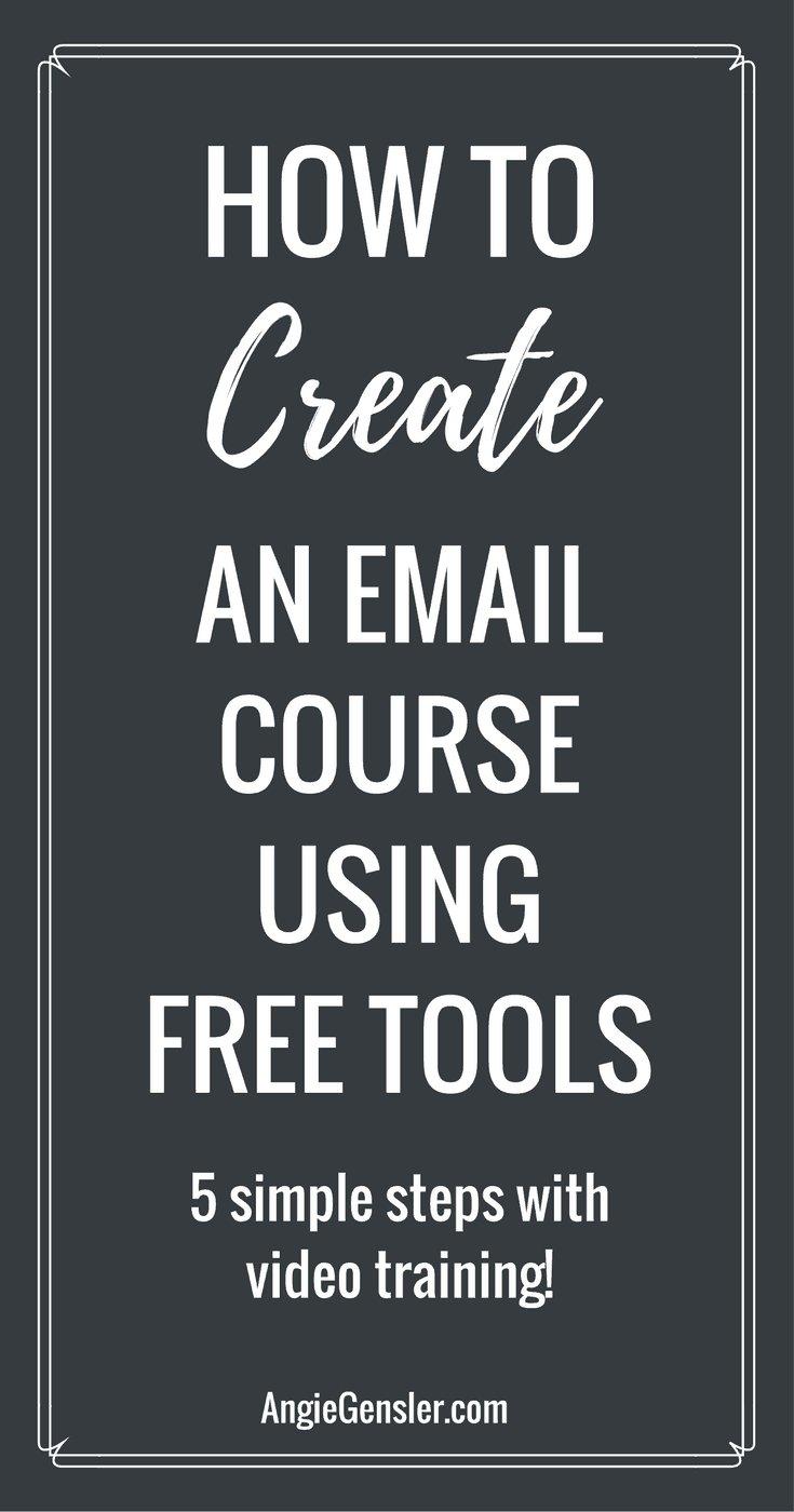 How to create an email course using free tools