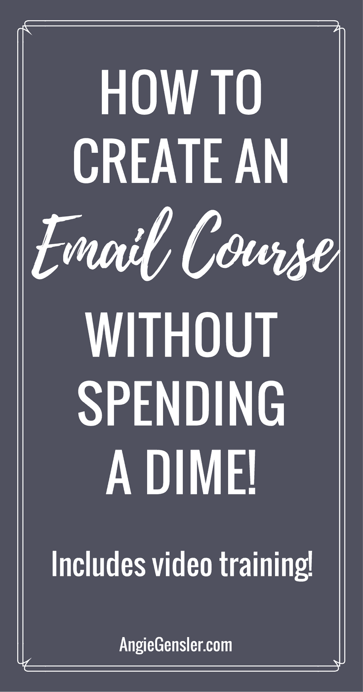 How to create an email course without spending a dime