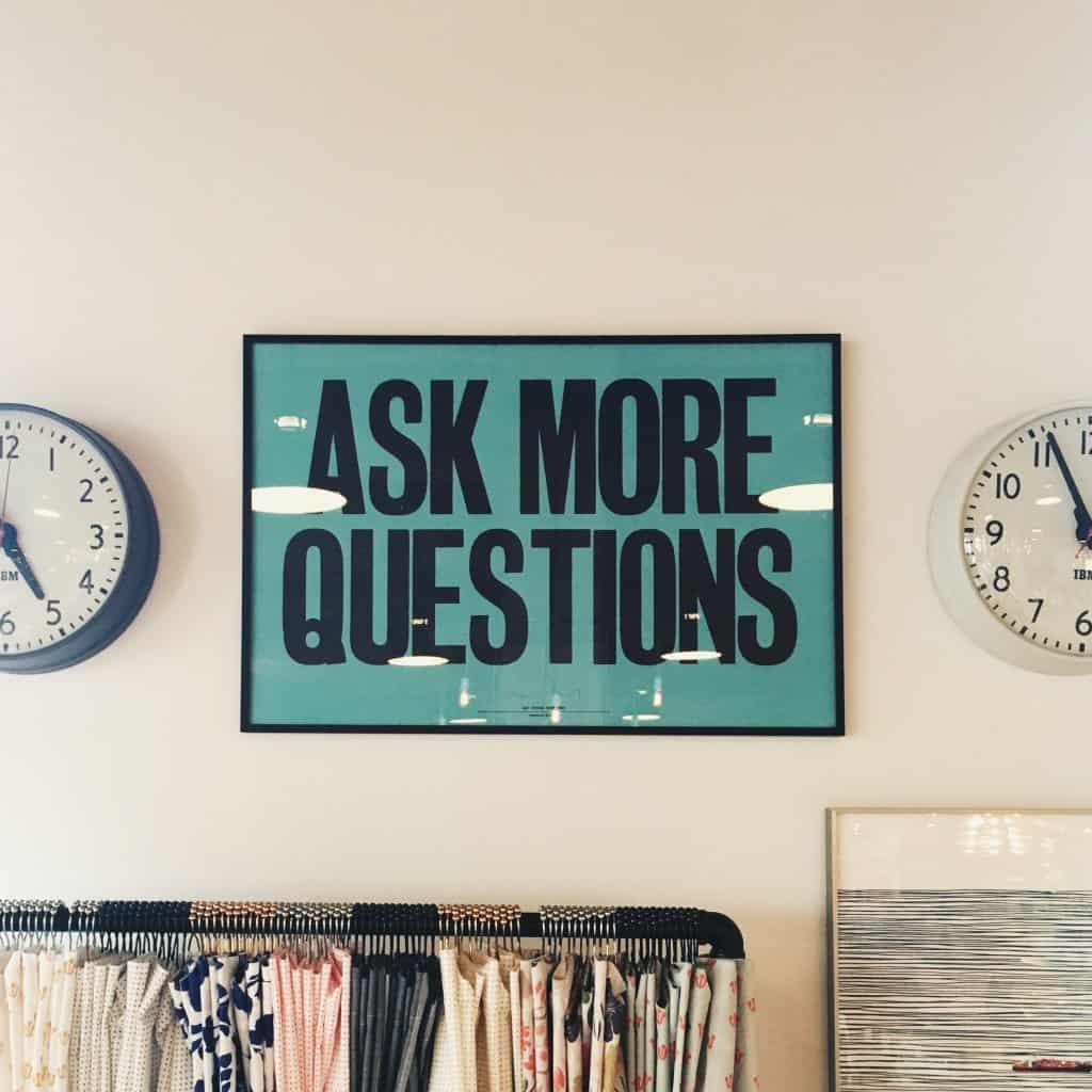 Social Media Content Ideas - Ask a question
